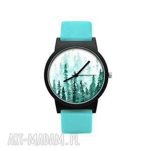 hand made na święta upominek zegarek z silikonowym paskiem las