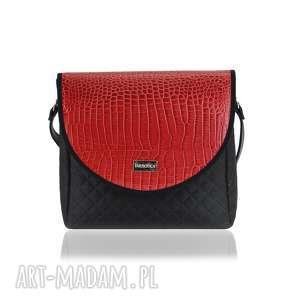 ręcznie robione torebki torebka puro classic 2496 red crocodile