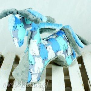 handmade zabawki koń blue grey- przytulanka sensoryczna