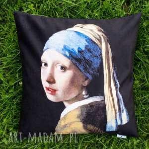 poduszki poduszka - kobieta z perłą vermeera, dziewczyna, prezent, malarskie