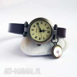 zegarki zegarek - dmuchawiec skórzany, brązowy, zegarek