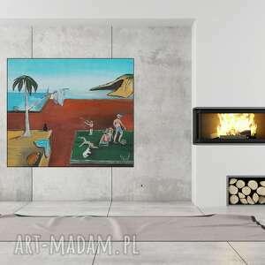Grot Aga! Obraz olejny Sur-weekend Salvador Dali 70x60 cm