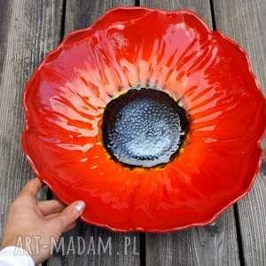 duża ceramiczna misa mak, misa, miska, kwiat, ceramiczna