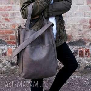 iks pocket szary, torba, torebka, minimal, simple, miejska, jesień