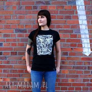 Koszulka dla weganki czarna koszulki kropka design weganki, vege