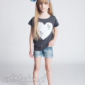 Bluzka DB13G, bluzka, koszulka, serce, bawełna