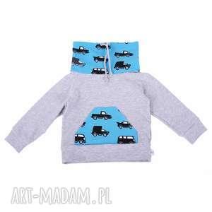 bluza niebieskie autka r 122-158, bluza, autka