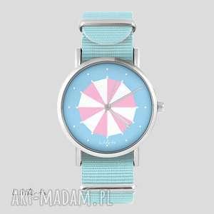 Zegarek, bransoletka - parasolka niebieski, nato zegarki