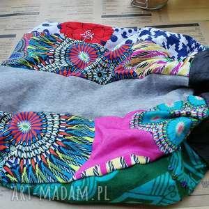 czapka turbanowa etno boho patchwork, czapka, etno, boho, sportowa, kolorowa