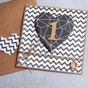 hand-made kartki na roczek:: black&white:: eko:: monochrome