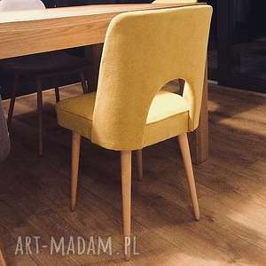 Krzesło muszelka MIODOWE, krzesło, muszelka, vintage, latasześćdziesiąte