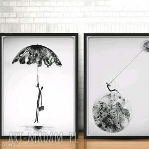 zamówienie - 2 autorskie grafiki Dreams Rain 50x70cm, grafika-deszczowa
