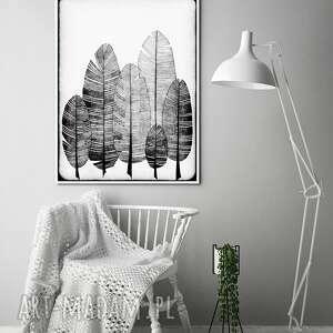 piórka 60x90cm, pióra, piórka, plakat, obraz, ilustracja, wnętrze