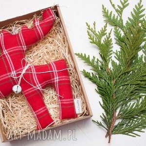pod choinkę prezent Renifer łoś z dzwoneczkiem w pudełku zawieszka, renifer,