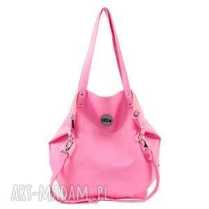 torba worek waterproof all pink, torba, eko skóra, zakupy, podróże, luźno