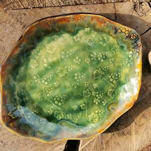 ręcznie zrobione ceramika ceramiczny talerz (c183)