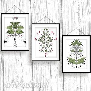 zielnik folklorystyczny tryptyk, zielnik, folklor, plakat dom