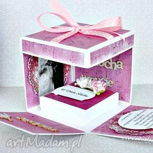 scrapbooking kartki box ślubny z personalizacją, box, eksplodujące, pudełko, ślub