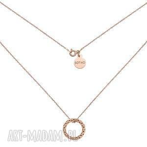 naszyjnik z obręczą z różowego złota sotho - łańcuszek