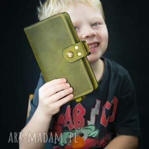 ręcznie zrobione portfele oryginalny portfel w miejscem na 14 kart kolorze limonkowym