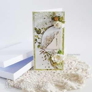 vairatka handmade kartka ślubna w pudełku 451, wesele