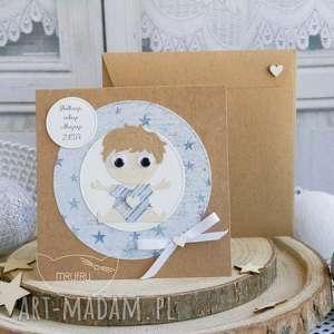 Personalizowana kartka dla chłopczyka - Narodziny, Chrzest Święty, Roczek, Urodziny