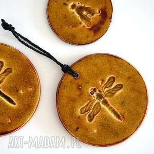 Ważka ceramika, ważka, owad, ceramiczna, wisiorek, dekoracja, ścienna