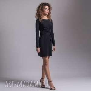 sukienki cristina mini - black, mini, elegancka, wygodna, wyszczuplająca