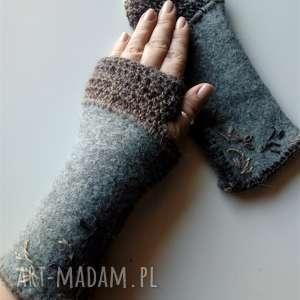 Rękawiczki mitenki the wool art rękawiczki, mitenki, dodatki,