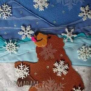 pokoik dziecka tkaninowy obraz z niedźwiadkiem, niedźwiedziem