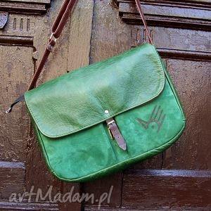 wielka teka zielona skóra pull up i zamsz (pullup, zieleń, laptop pojemna)