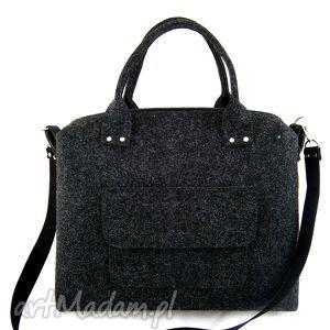 straight anthracite bag, filc, torebka torebki
