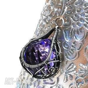 wisior z kryształem swarovski, wisior, kryształ, srebro biżuteria