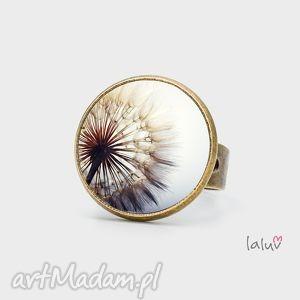 pierścionki pierścionek dmuchawiec, wiosna, kwiaty, kwiatki, mleczyk, prezent