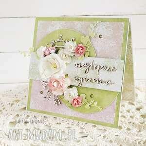 najlepsze życzenia kartka w pudełku 662 vairatka handmade - imieniny