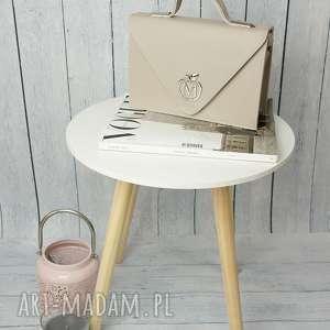 torebki sztywna torebka/teczka manzana klasyczna- szara, torebka, torebki, damska