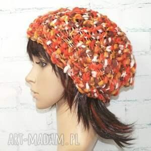 czapka - złota polska - czapka, prezent, czapa, jesień, handmade, zima