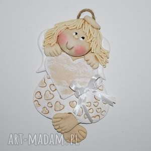 handmade dekoracje pamiątka anielki - anioł z masy solnej