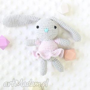 króliczek zosia - królik, zabawka, szydełkowa, maskotka, przytulanka