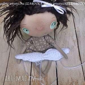 hand-made dekoracje aniołek lalka - dekoracja tekstylna, seria cute angel, ooak