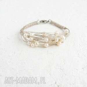 ręcznie wykonane bransoletka z perłami