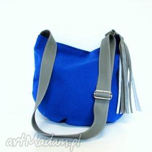 hand-made torebki kobaltowa long hobo