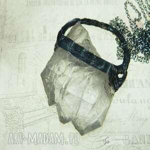 wisior-wspaniały okaz kryształu górskiego, wisior kryształ górski, surowy sopel