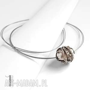 bianco x srebrny naszyjnik z perłą majorka, naszyjnik, srebrny, wirewrapping
