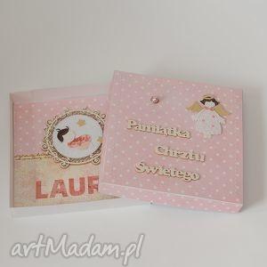 handmade scrapbooking kartki pamiątka chrztu świętego kartka