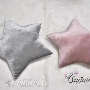 poduszka gwiazda z weluru połyskiem kolory, poduszka, welur, gwiazda, pokój-dziecka