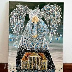 łomnica dom wdowy 70x100, anioł, sen, dom, pieśń