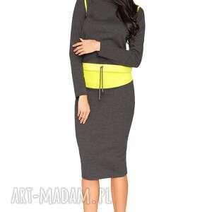 spódnice spódnica mila 9, ołówkowa, dresowa, surowa, midi, wygodna, swobodna ubrania