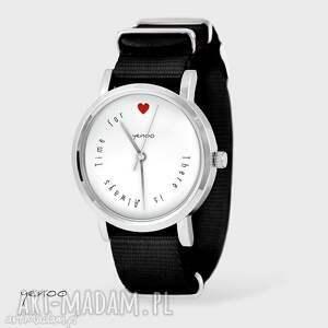 zegarki zegarek, bransoletka - there is always time for love czarny, nato, zegarek