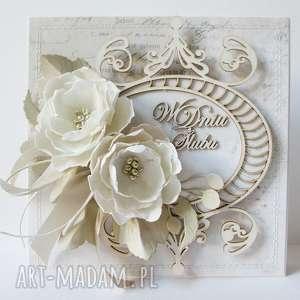 Ślubny szyk - w pudełku scrapbooking kartki marbella pudełko